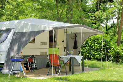 Anchoring of awning tent