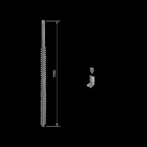 GroundPlug® Twister™ skruefundament M12/750mm