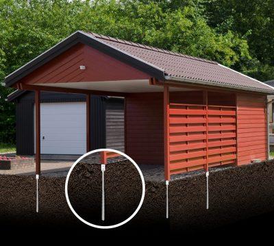 Foundation for modular homes