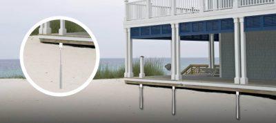 Deck footings for sandy soil