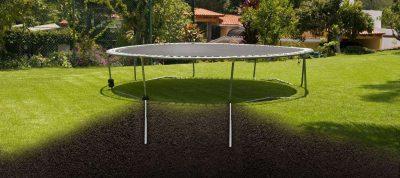 Heavy duty anchor for trampoline