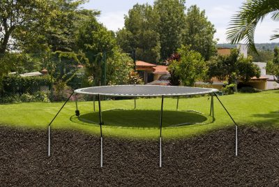 Anchor for trampoline