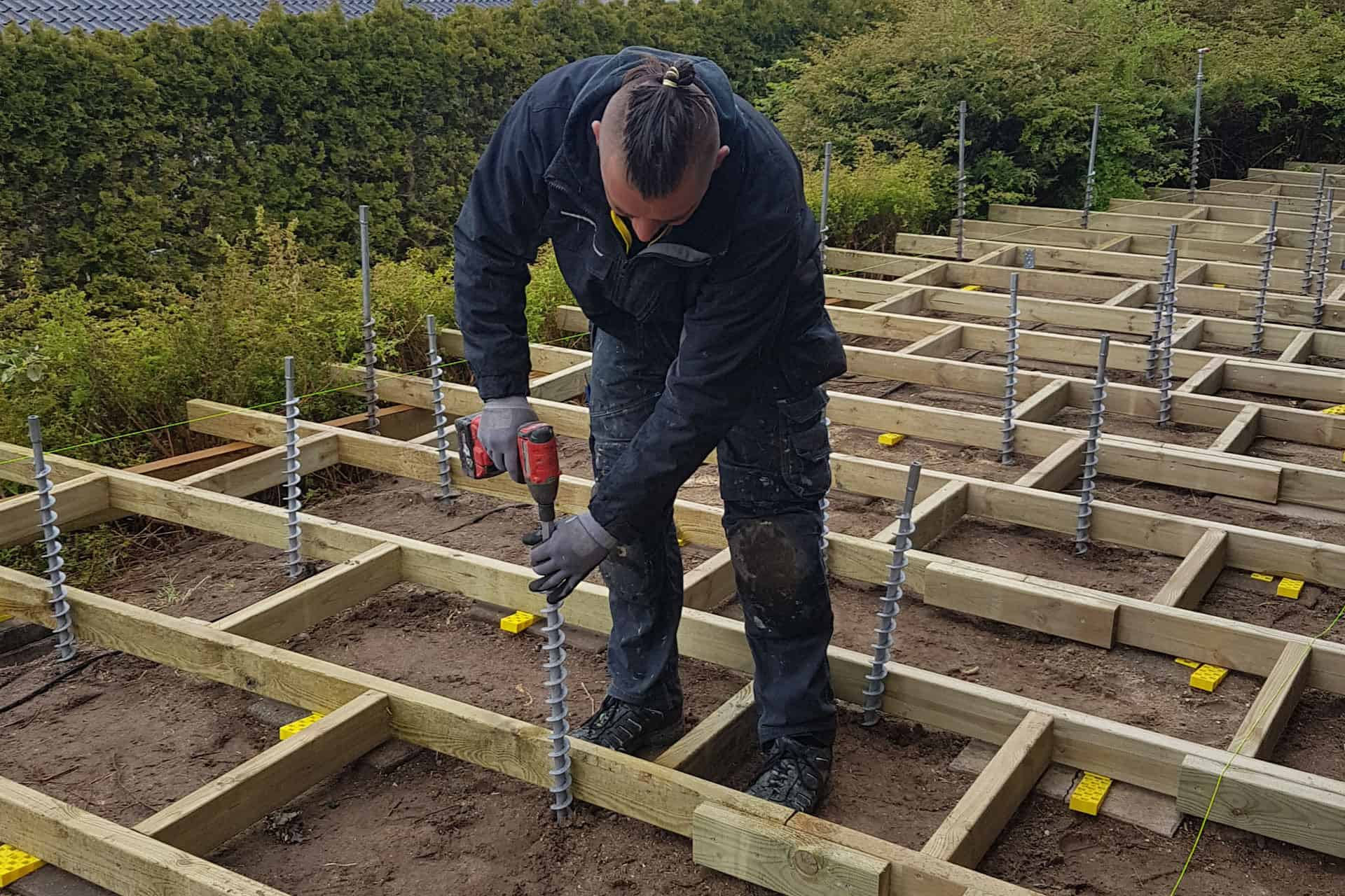 How to build a deck - GroundPlug Twister footing