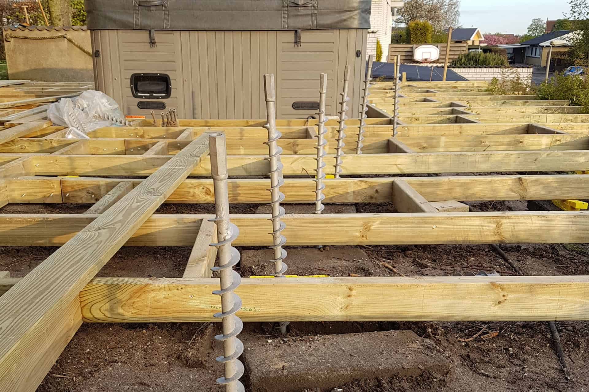 How to build a deck - GroundPlug Twister steel footings