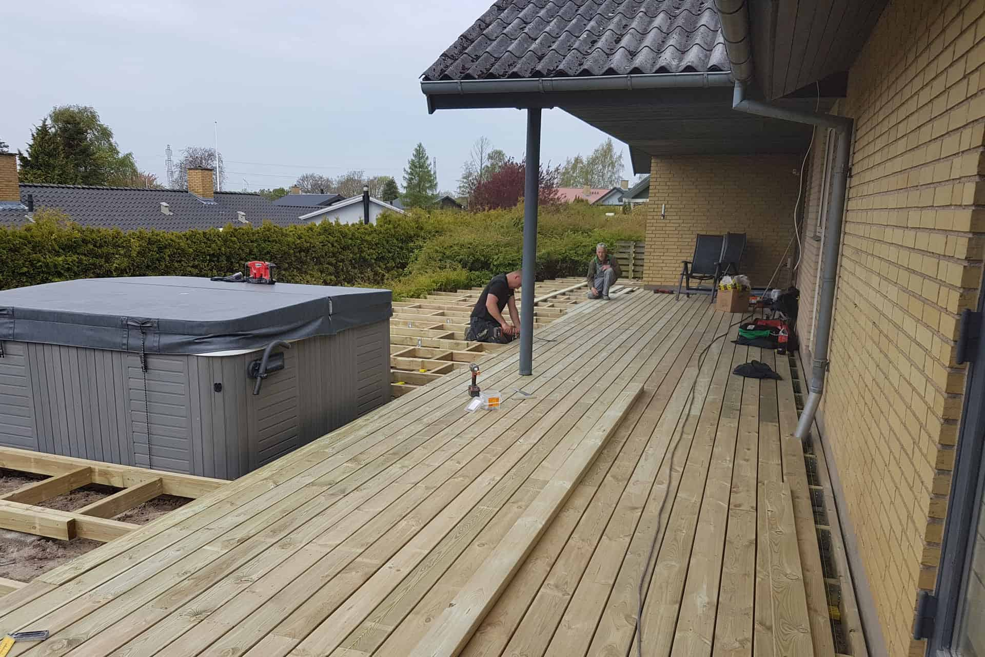How to build a deck - treated pine decking