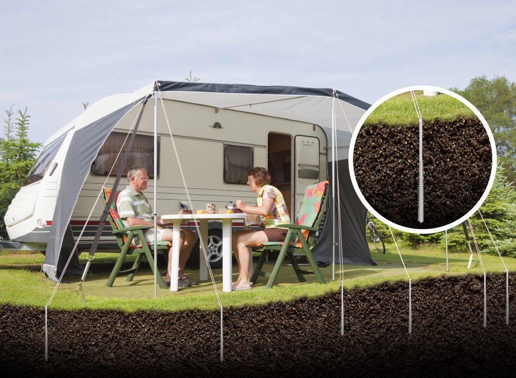 Forankring af telt